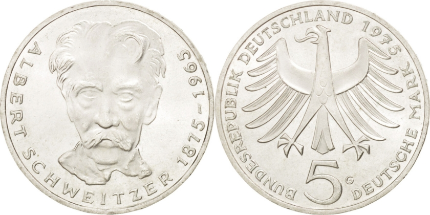 Germany 1975 KM# 143 G 5 Deutsche Mark UNC