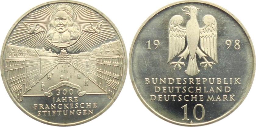 Germany 1998 KM# 194 A 10 Deutsche Mark UNC