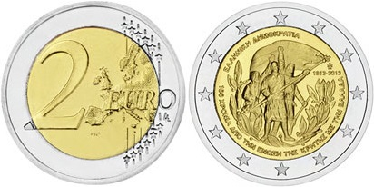 Greece 2013 2 Euro 100th anniversary of the union of Crete with Greece UNC