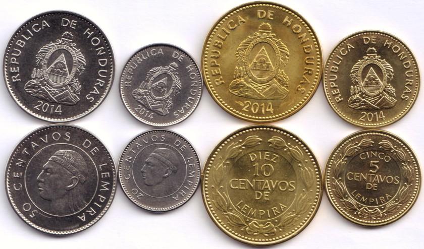 Honduras 2014 4 coins UNC