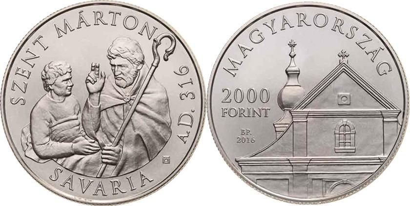 Hungary 2016 2000 Forint St Martin of Tours BU