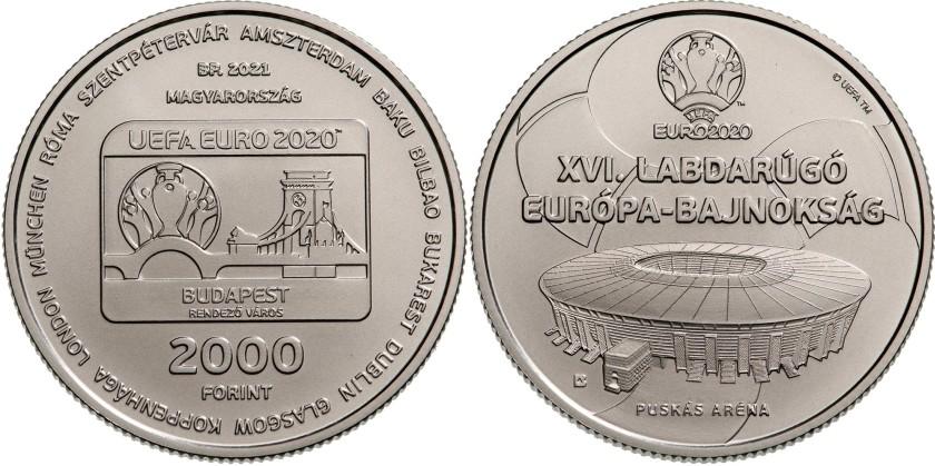 Hungary 2021 2000 Forint UEFA Euro 2020 BU