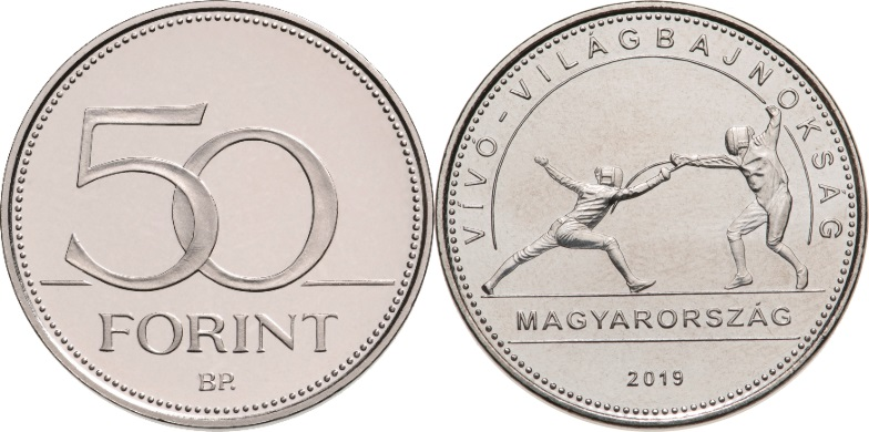 Hungary 2019 50 Forint The FIE World Fencing Championship Hungary UNC