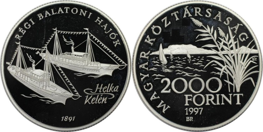 Hungary 1997 KM# 722 2000 Forint Proof