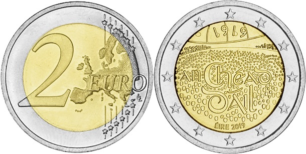 Ireland 2019 2 Euro 100th Anniversary of the establishment of the Dáli Éireann