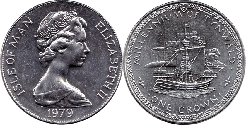 Isle of Man 1979 KM# 48 1 Crown UNC