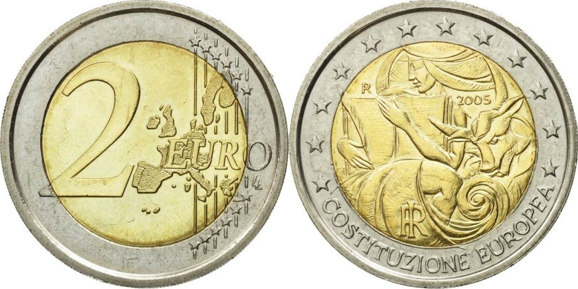 Italy 2005 2 Euro 1st anniversary of the signing of the European Constitution