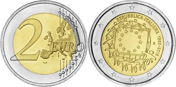 Italy 2015 2 Euro 30 Years of the European Union flag UNC