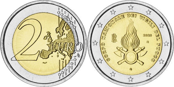 Italy 2020 2 Euro The 80th Anniversary of Foundation of the Fire Department