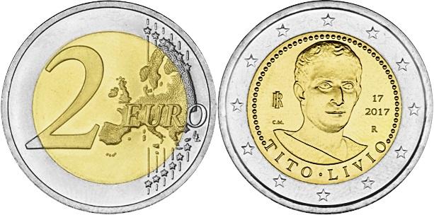 Italy 2017 2 Euro Bimillenary of the death of Titus Livius UNC