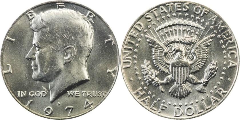 United States 1974 D Half Dollar UNC