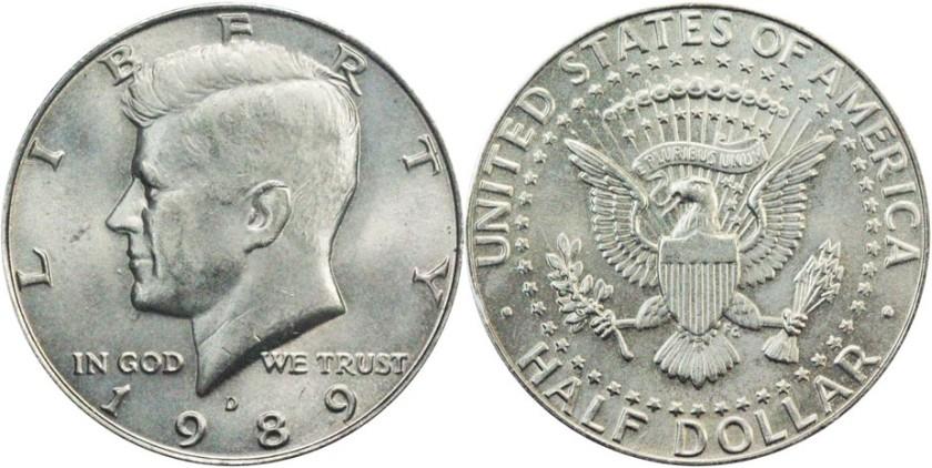 United States 1989 D Half Dollar UNC