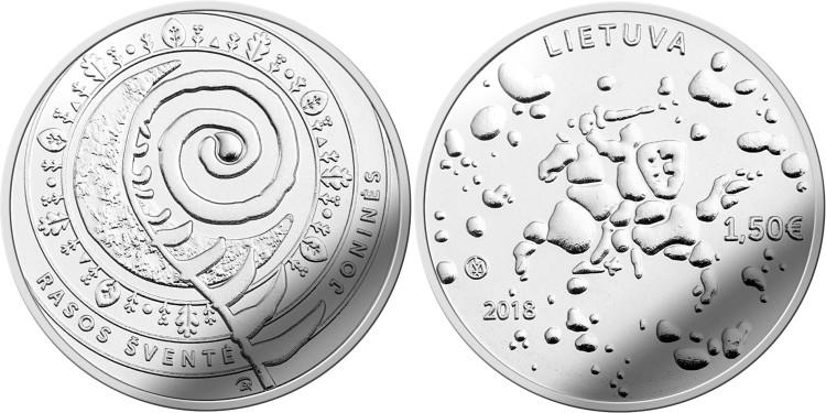 Lithuania 2018 Joninės (Rasos) CuNi UNC