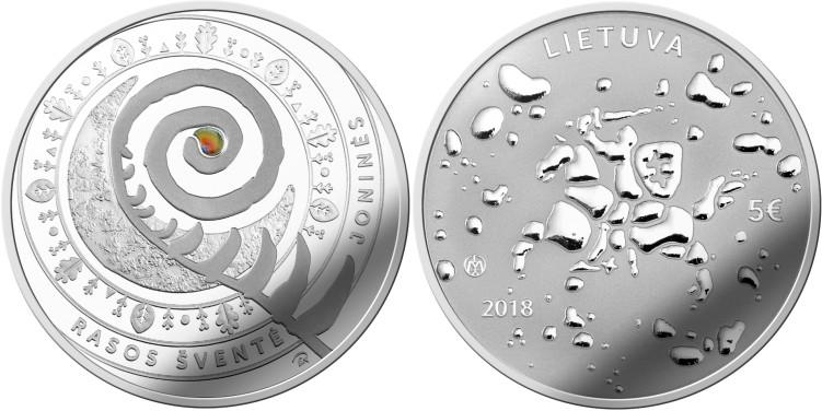 Lithuania 2018 Joninės (Rasos) Silver Proof