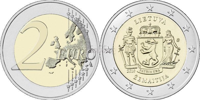 Lithuania 2019 2 Euro Samogitia Coin Card BU