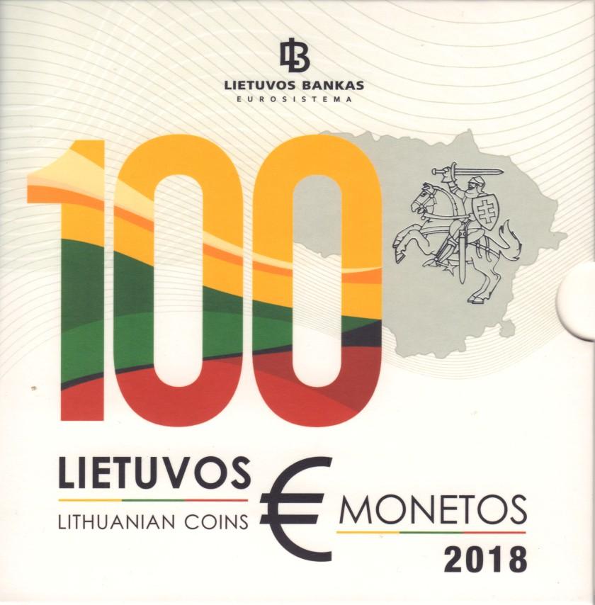 Lithuania 2018 Mint set of Lithuanian euro coins BU