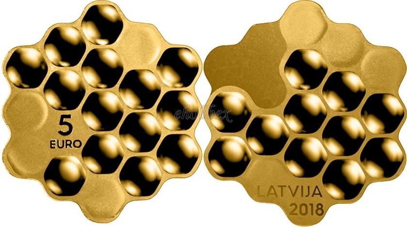 Latvia 2018 Honey coin Proof