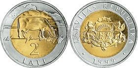 Latvia 1999 2 Lats UNC