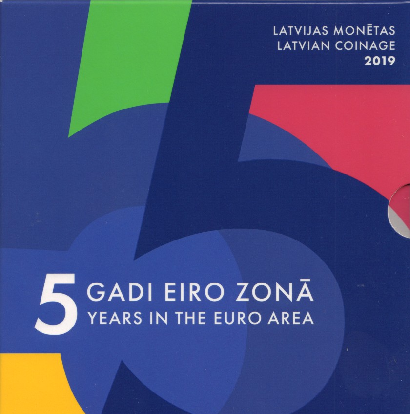 Latvia 2019 Mint set of Latvian euro coins