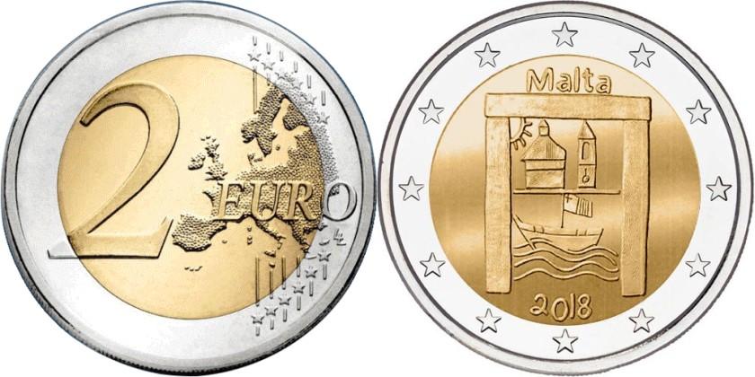 Malta 2018 2 Euro Cultural Heritage UNC