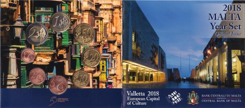 Malta 2018 Euro coins set UNC