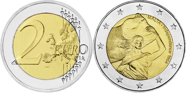 Malta 2014 2 Euro Malta Independence 1964 UNC