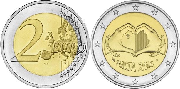 Malta 2016 2 Euro Love UNC