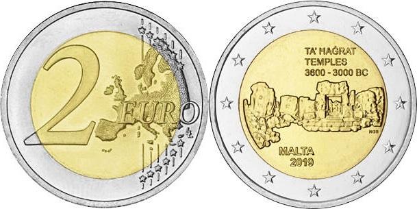 Malta 2019 2 Euro Maltese prehistoric temples of Ta' Hagrat UNC
