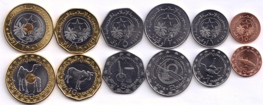 Mauritania 2018 6 coins UNC