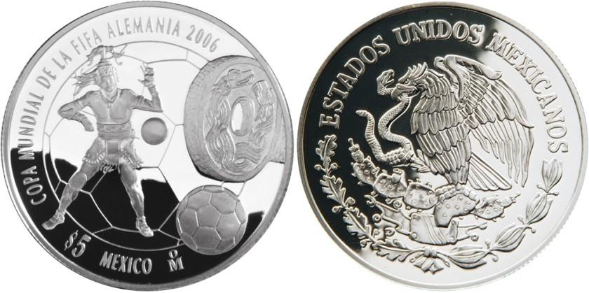 Mexico 2006 KM# 770 5 Pesos Proof