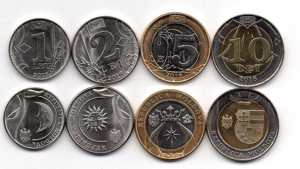 Moldova 2018 4 coins UNC