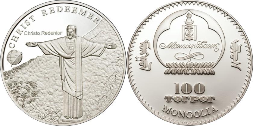 Mongolia 2008 KM 346.1 100 Tugrik Proof