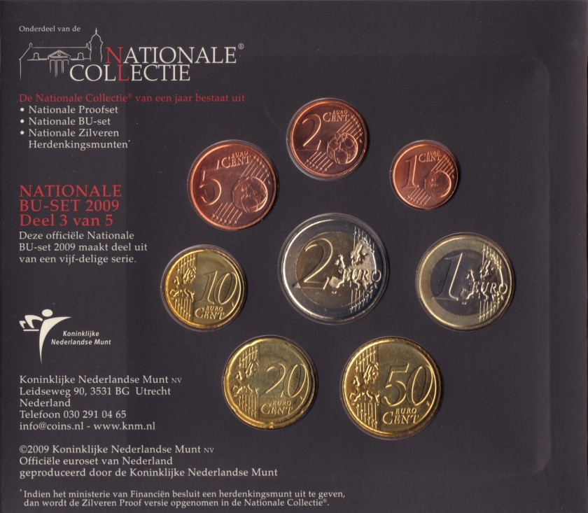 Netherlands 2009 Mint set of euro coins UNC