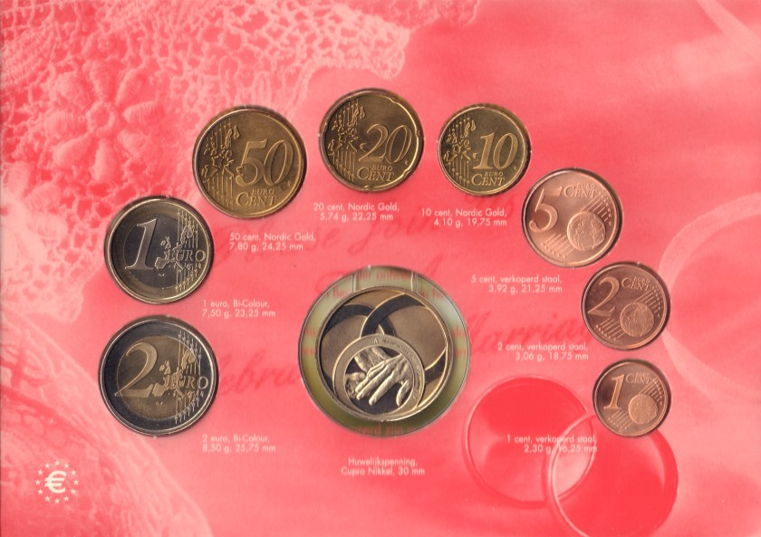 Netherlands 2004 Mint set of euro coins UNC