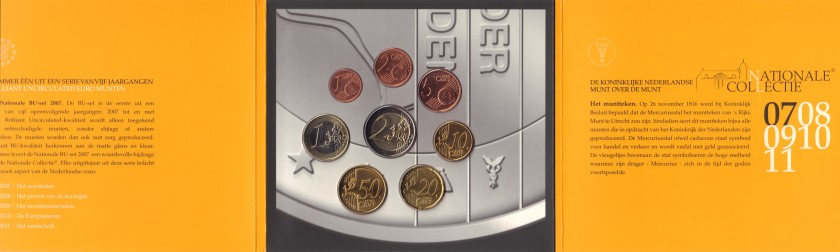 Netherlands 2007 Mint set of euro coins UNC