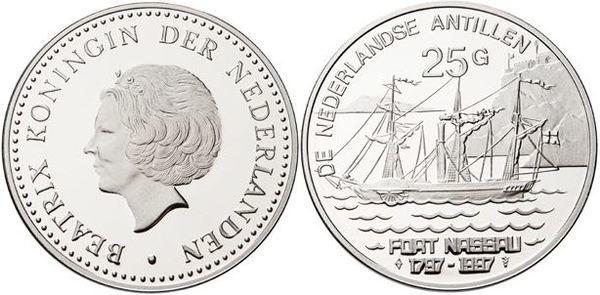 Netherlands Antilles 1997 KM# 42 25 Gulden Proof