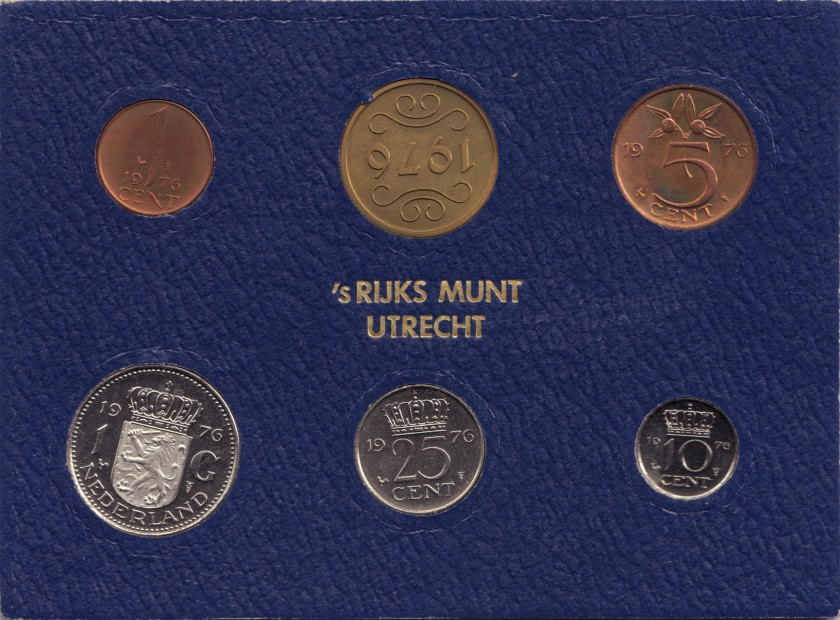 Netherlands 1976 KM# 180 - 184a Mint Set 5 coins UNC