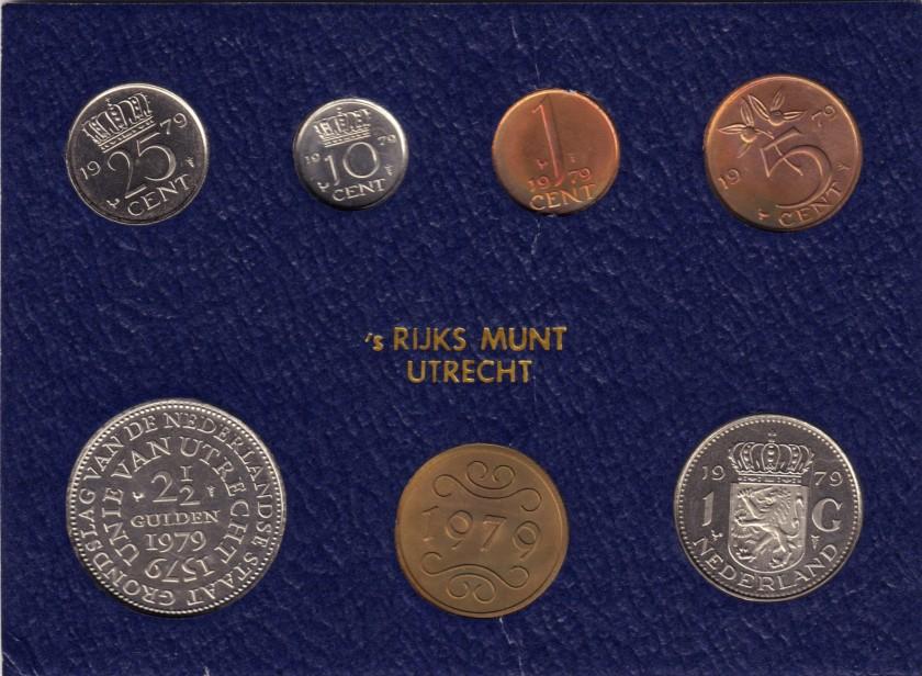 Netherlands 1979 KM# 180 - 184a, 197 Mint Set 6 coins UNC