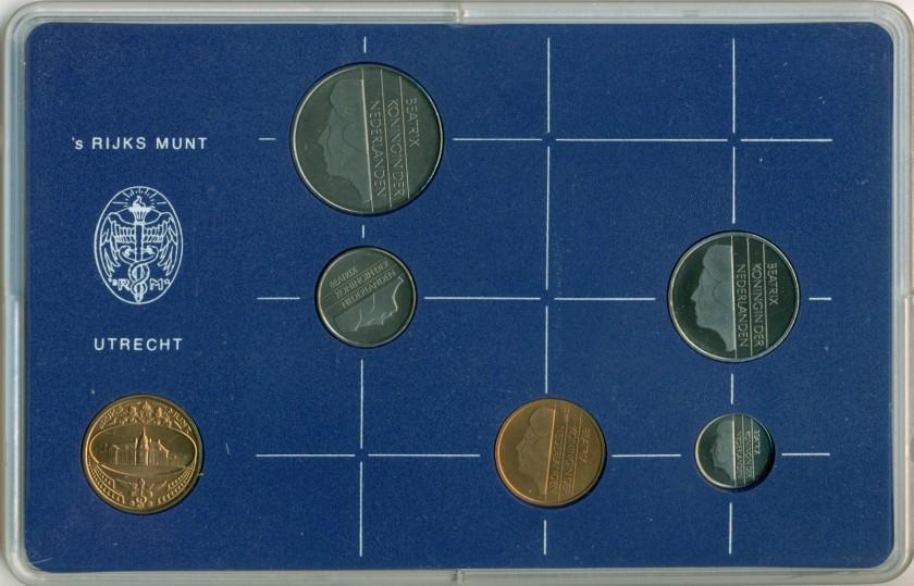 Netherlands 1984 KM# 202 - 206 Mint Set 5 coins UNC