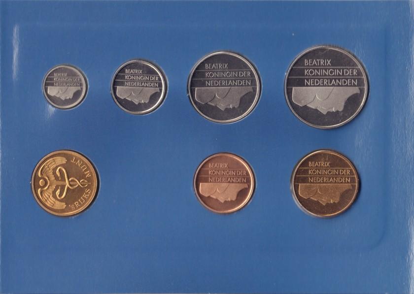 Netherlands 1993 KM# 202 - 206, 210 Mint Set 6 coins UNC
