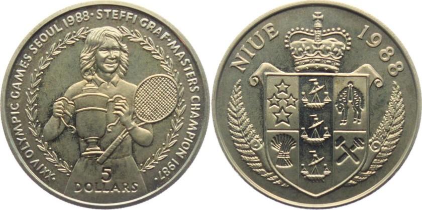 Niue 1988 KM# 13 5 Dollars UNC