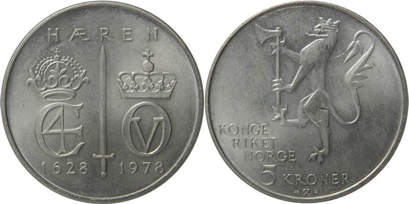 Norway 1978 KM# 423 5 Kroner UNC