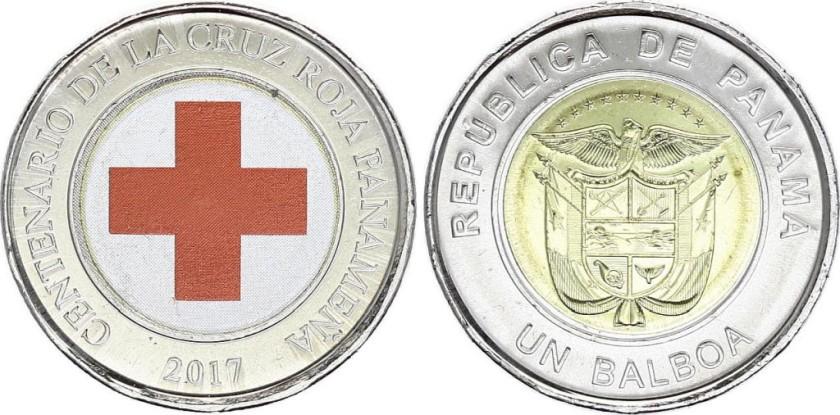 Panama 2017 1 Balboa Red Cross UNC