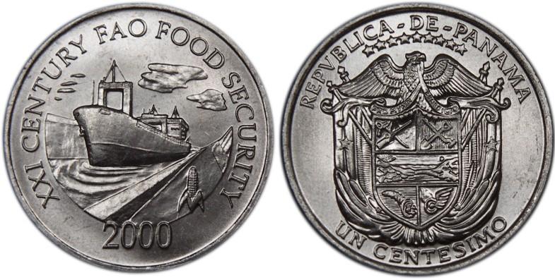 Panama 2000 KM# 132 1 Centesimo FAO UNC