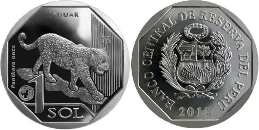 Peru 2018 1 Sol Jaguar UNC