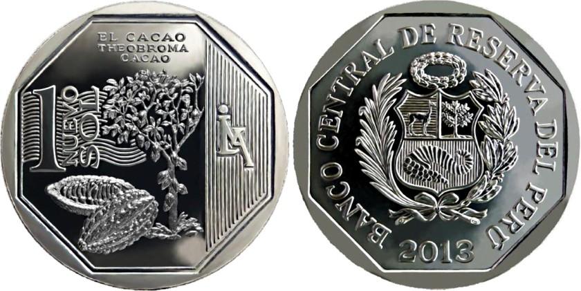 Peru 2013 KM# 375 1 Sol Cacao UNC