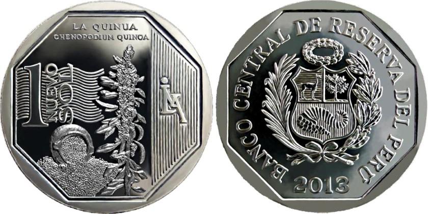 Peru 2013 KM# 376 1 Sol Quinoa UNC