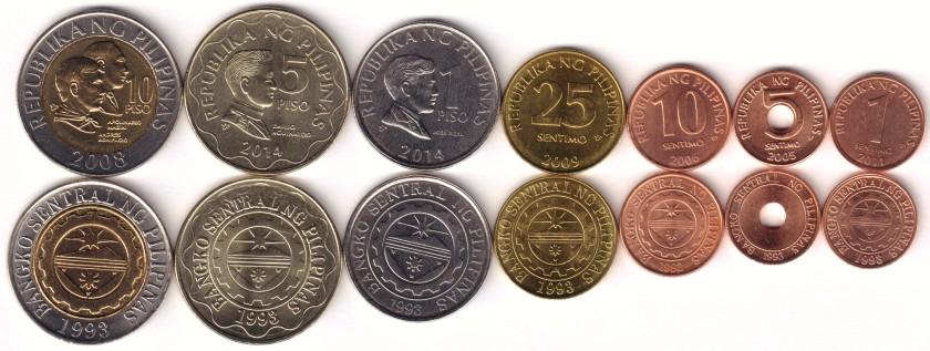 Philippines 2005 - 2014 7 coins UNC