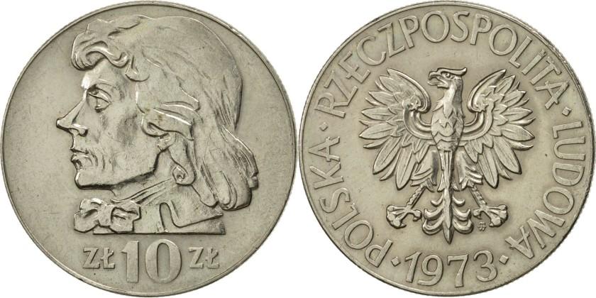Poland 1973 Y# 50a 10 Zlotych AU-