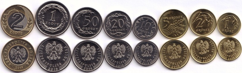Poland 2019 8 coins UNC